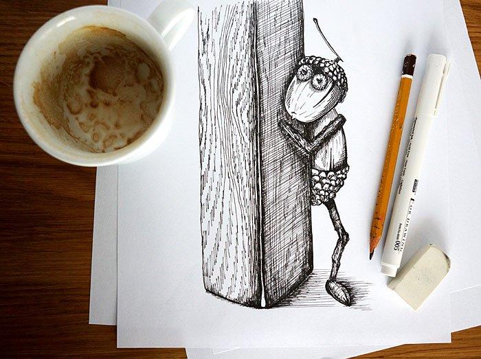 Ilustrace do knihy o dubáncích