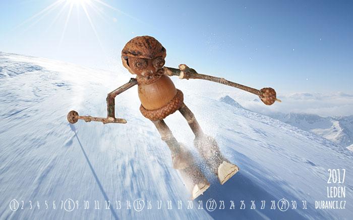 Leden, na lyže pudem