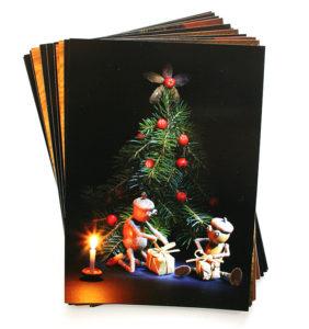Sada vánočních pohledů s dubánky